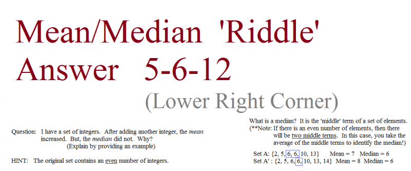 mean median question 5-6-12  answer
