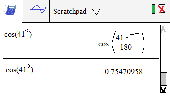 nspire cas trig cosine workspace