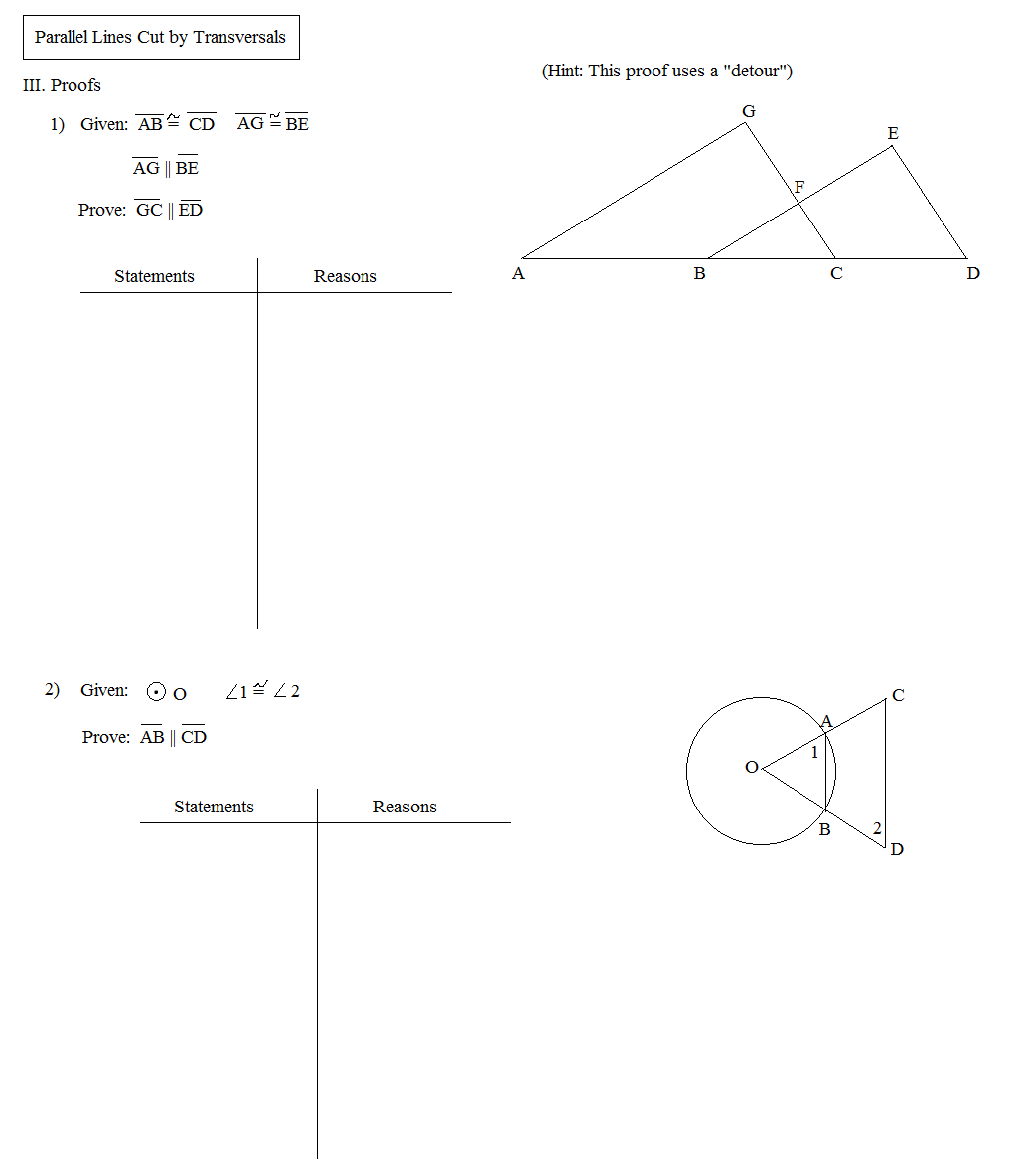 Geometry Parallel Lines And Transversals Test Pictures to Pin on – Parallel Lines and Transversals Worksheets