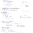 parametric equations projectile motion