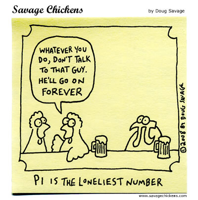 pi is the loneliest number by doug savage 2008