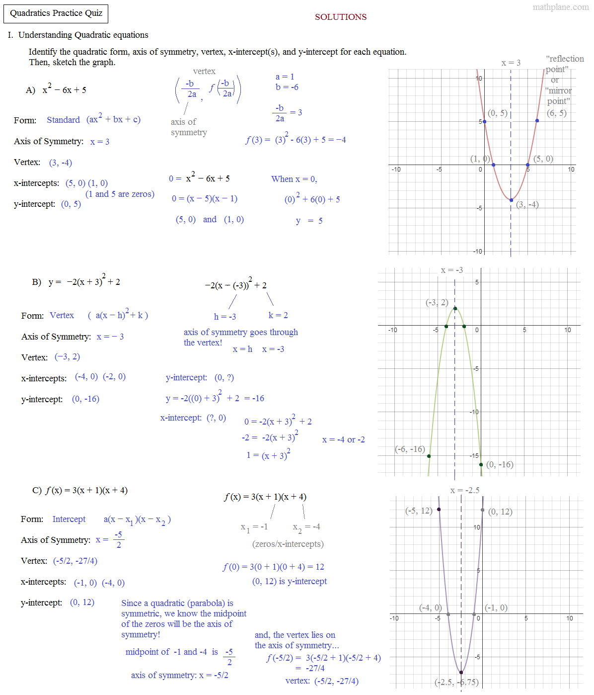 quadratics_practice_quiz_solutions_update.310144902_large Quadratic Example Png on formula math, equation non, function real-world, linear function, trinomial equations, function real life, equation factor,