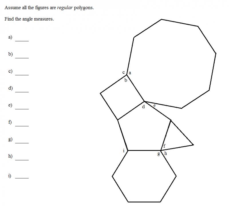 regular polygon exercise