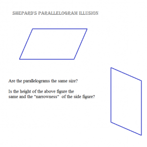shepards parallelogram illusion