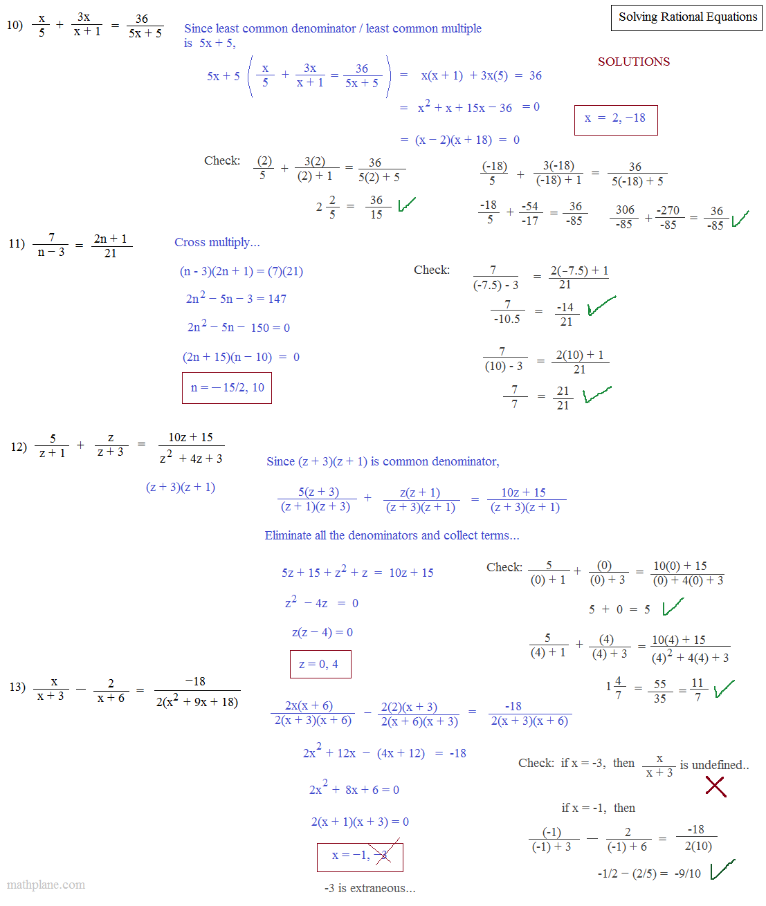 Cross Multiply Rational Equations Worksheet   how to ...