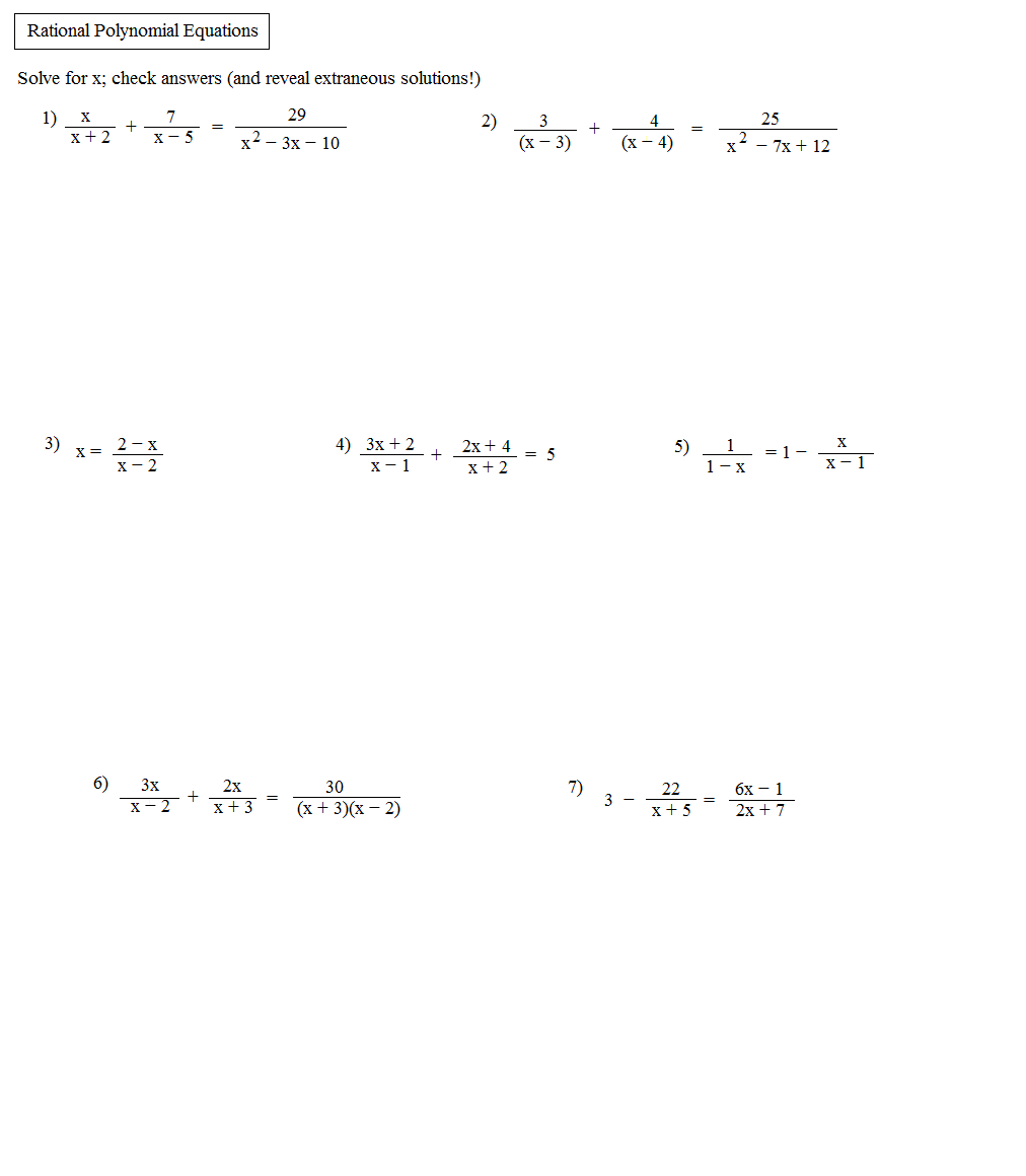 Worksheets Solving Polynomial Equations Worksheet solving polynomial equations worksheet jennarocca jennarocca