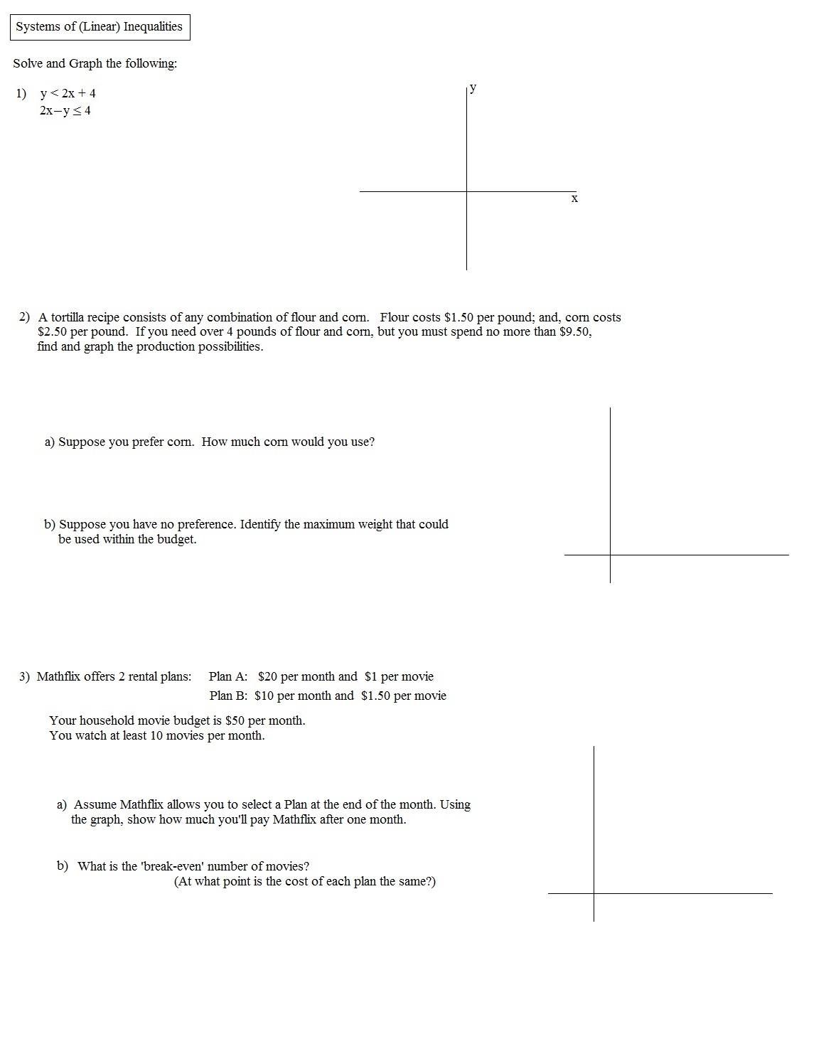 systems of linear inequalities word problems worksheet pdf. Black Bedroom Furniture Sets. Home Design Ideas