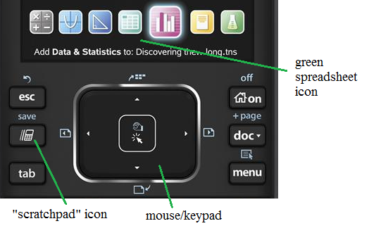 ti nspire screen regression keys