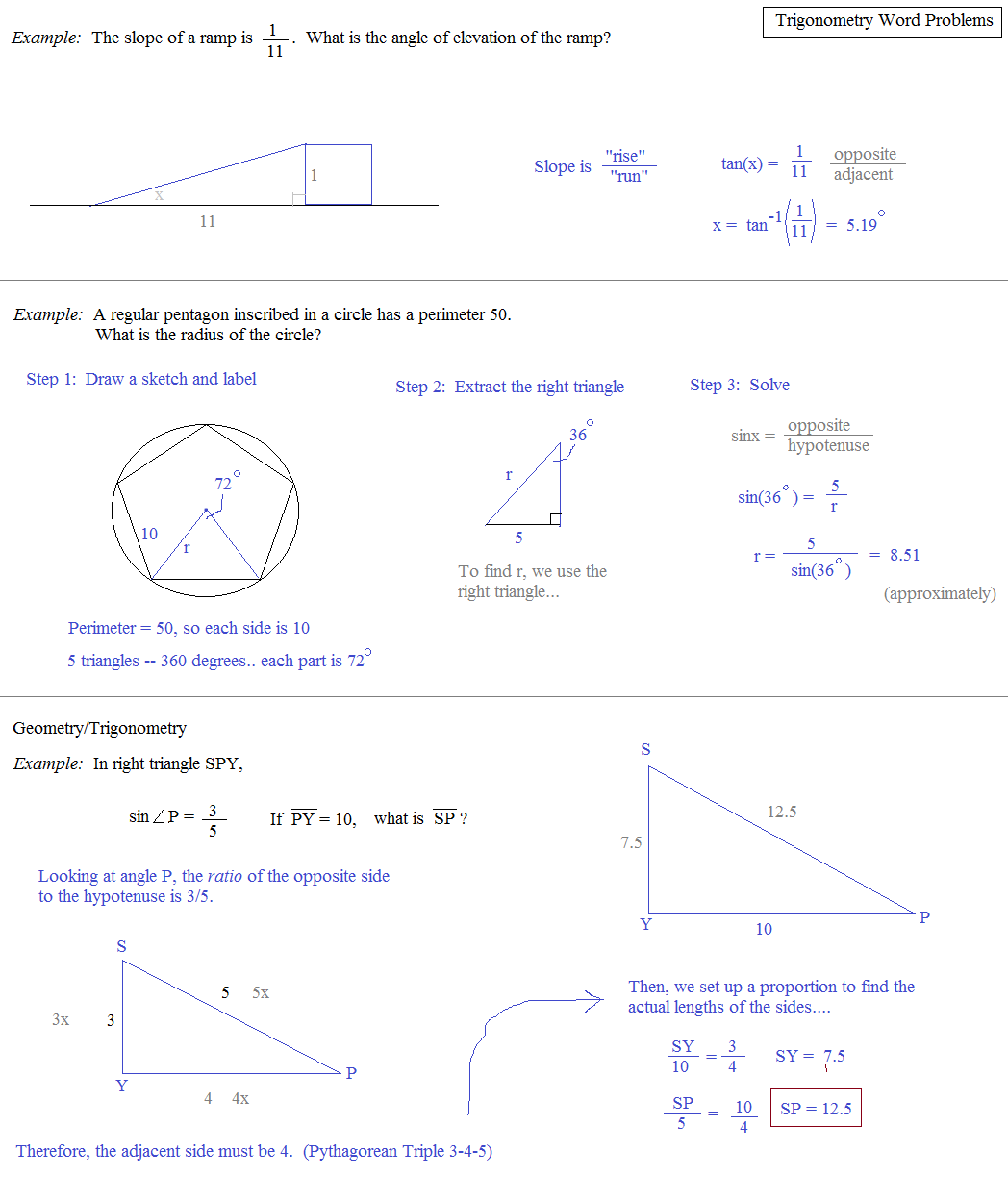 math problems and answers
