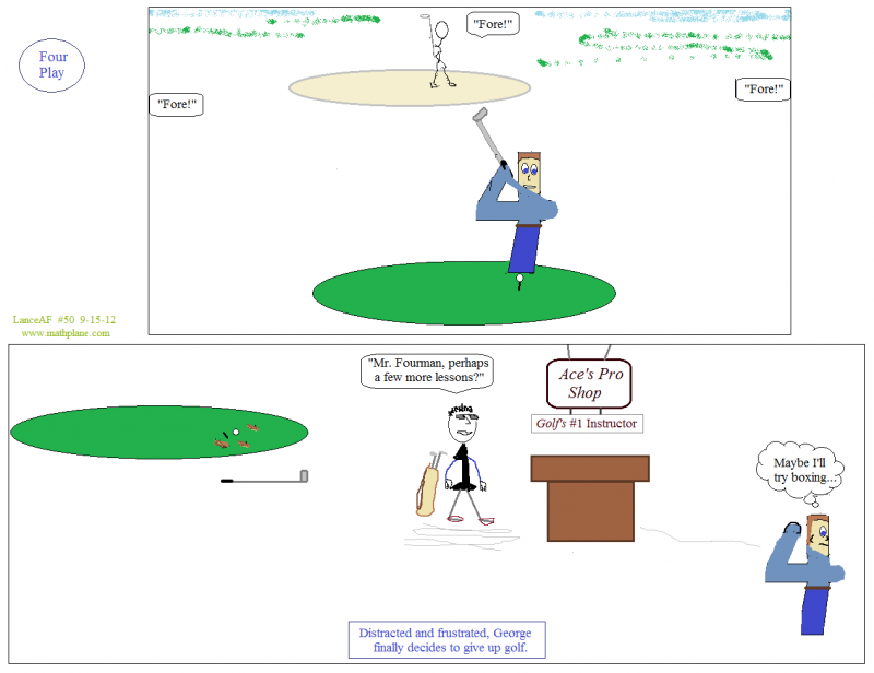 webcomic 50 four play math cartoon golf