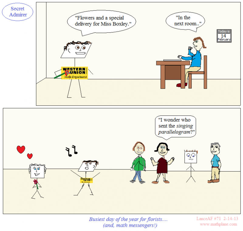 webcomic 71 singing parallelogram math messenger