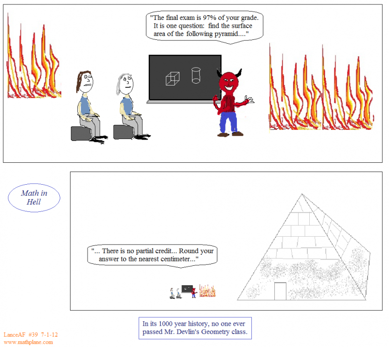 weekly math comic 39 math in hell pyramid