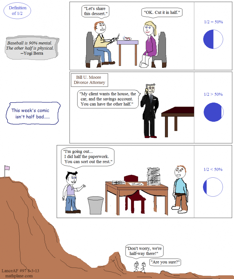 weekly math comic 97 definition of half